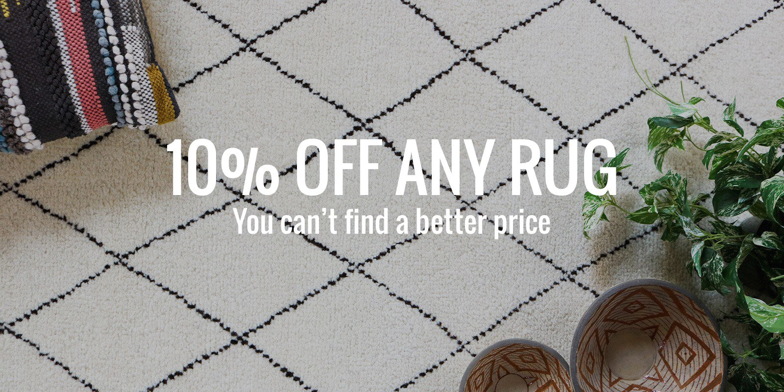10% off any rug