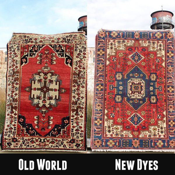 Old World vs new dye kazak rugs