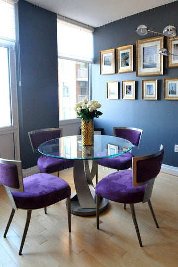 Blue Room with Purple Chairs