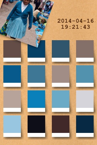 blue color palette from irodori app loveofrugs nwrugs
