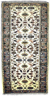 INDO, USHAK, Ivory / Light Blue (Runner) , Area Rugs, Discount Rugs, Cheap Rugs