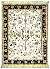 INDO, KASHAN, Ivory / Navy (Rectangle) , Area Rugs, Discount Rugs, Cheap Rugs