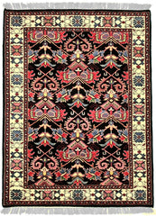INDO, FARAHAN, Black / Ivory (Rectangle) , Area Rugs, Discount Rugs, Cheap Rugs