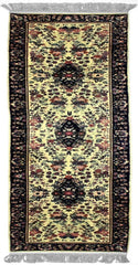 160L - F001, SAROUK, Ivory / Navy (Runner) , Area Rugs, Discount Rugs, Cheap Rugs