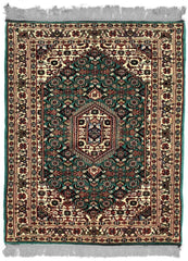 INDO, BIJAR, Teal / Ivory (Rectangle) , Area Rugs, Discount Rugs, Cheap Rugs