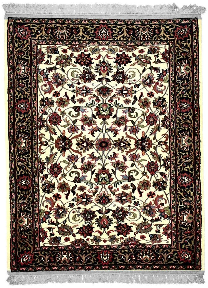 INDO, KASHAN, Ivory / Teal (Rectangle) , Area Rugs, Discount Rugs, Cheap Rugs