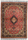 INDO, TABRIZ, Antique Rose / Navy (Rectangle) , Area Rugs, Discount Rugs, Cheap Rugs
