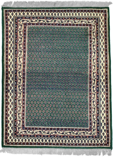 INDO, MIR, Dark Green / Ivory (Rectangle) , Area Rugs, Discount Rugs, Cheap Rugs