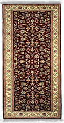INDO - M001, KASHAN, Red / Ivory (Runner) , Area Rugs, Discount Rugs, Cheap Rugs