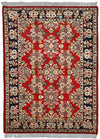 INDO, SAROUK, Red / Navy (Rectangle) , Area Rugs, Discount Rugs, Cheap Rugs