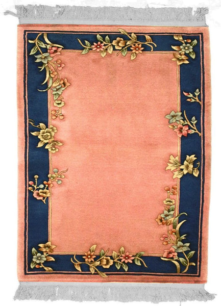 90 L, ARTDECO, Rose / Blue (Rectangle) , Area Rugs, Discount Rugs, Cheap Rugs