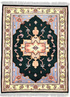 INDO, HERIZ, Dark Green / Ivory (Rectangle) , Area Rugs, Discount Rugs, Cheap Rugs