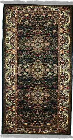Royalty, KC25, Emerald / Red (Runner) , Area Rugs, Discount Rugs, Cheap Rugs