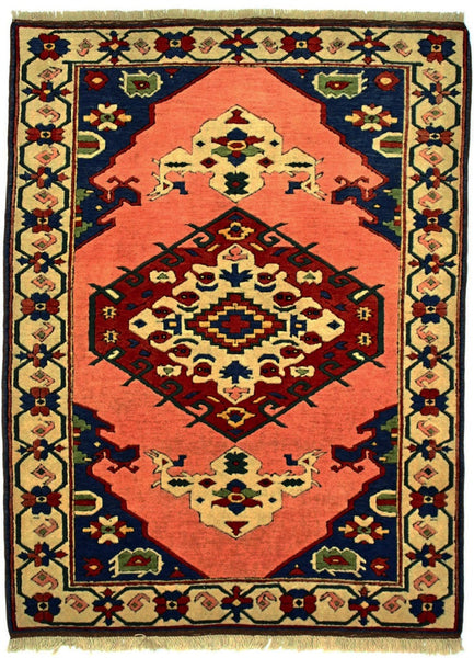 TURKISH - ROMANI, TURKISH, Salmon / Navy (Rectangle) , Area Rugs, Discount Rugs, Cheap Rugs