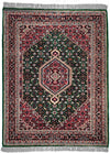 INDO, BIJAR, Dark Green / Navy (Rectangle) , Area Rugs, Discount Rugs, Cheap Rugs