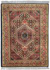 INDO, BIJAR, Navy / Rose (Rectangle) , Area Rugs, Discount Rugs, Cheap Rugs