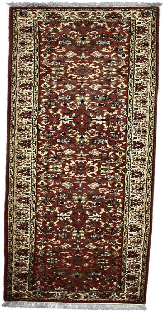 INDO - I001, KASHAN, Rose / Ivory (Runner) , Area Rugs, Discount Rugs, Cheap Rugs