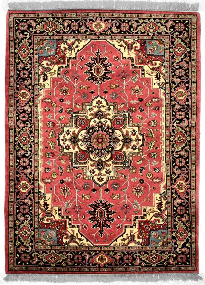 INDO - I001, SERAPI, Rose / Navy (Rectangle) , Area Rugs, Discount Rugs, Cheap Rugs