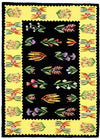 Country Heritage, H648, Black (Rectangle) , Area Rugs, Discount Rugs, Cheap Rugs