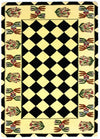 Country Heritage, H649, Ivory / Black (Rectangle) , Area Rugs, Discount Rugs, Cheap Rugs