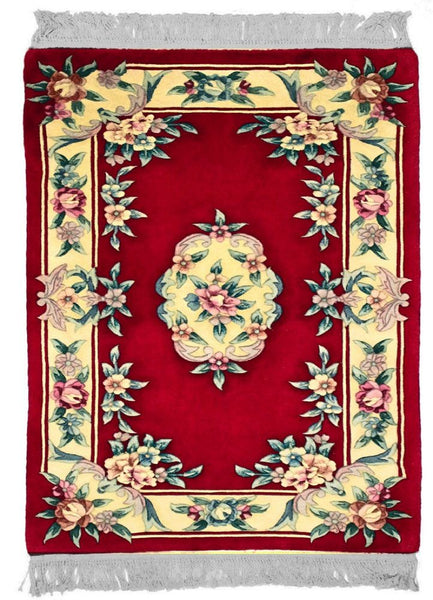 90 Line-Caravan, AUBUSSON, Red / Ivory (Rectangle) , Area Rugs, Discount Rugs, Cheap Rugs
