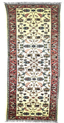 INDO - E001, USHAK, Ivory / Rose (Runner) , Area Rugs, Discount Rugs, Cheap Rugs