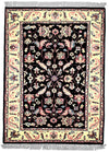 INDO - E001, KASHAN, Black / Ivory (Rectangle) , Area Rugs, Discount Rugs, Cheap Rugs