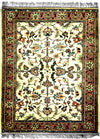 INDO - F001, KASHAN, Ivory / Rose (Rectangle) , Area Rugs, Discount Rugs, Cheap Rugs