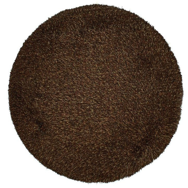 Retro Shag, BROWN, Brown (Round) , Area Rugs, Shag Area Rugs, Discount Rugs, Cheap Rugs, Round Rugs