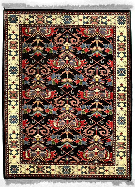 INDO-Shalom, FARAHAN, Black / Ivory (Rectangle) , Area Rugs, Discount Rugs, Cheap Rugs