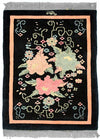 90 Line-R, AUBUSSON, Black / Rose (Rectangle) , Area Rugs, Discount Rugs, Cheap Rugs