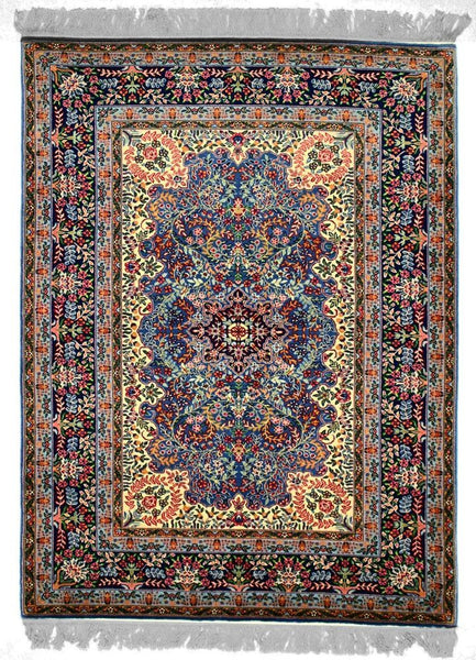 150L-F, LAVAR, Light Blue / Navy (Rectangle) , Area Rugs, Discount Rugs, Cheap Rugs