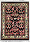 INDO - M001, FARAHAN, Black / Ivory (Rectangle) , Area Rugs, Discount Rugs, Cheap Rugs