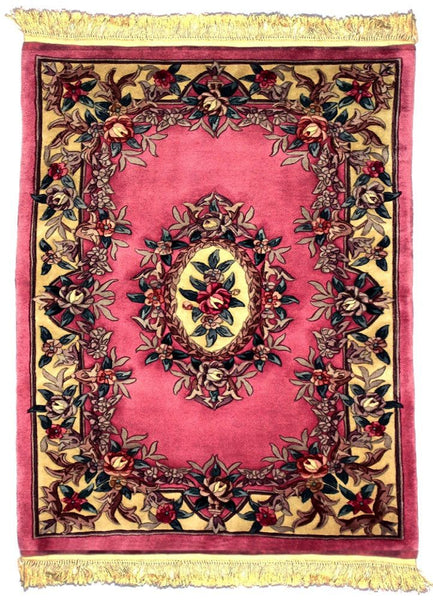 90 L, AUBUSSON, Rose / Ivory (Rectangle) , Area Rugs, Discount Rugs, Cheap Rugs