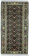 160 SILK, KASHAN, Green / Ivory (Runner) , Area Rugs, Discount Rugs, Cheap Rugs