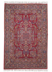 50 Raj Silk, Kashan, Antique Rose / Ivory