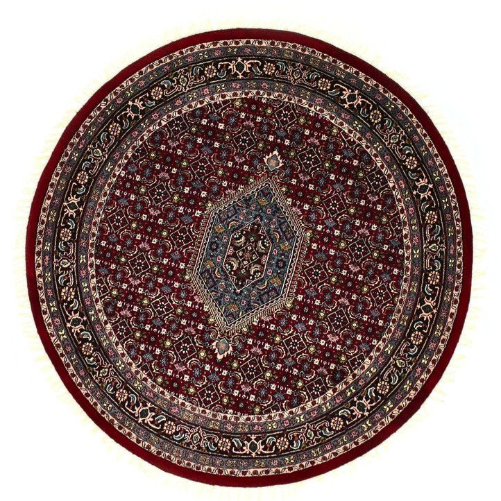 INDO - D001, BIJAR, Red (Round) , Area Rugs, Discount Rugs, Cheap Rugs, Round Rugs
