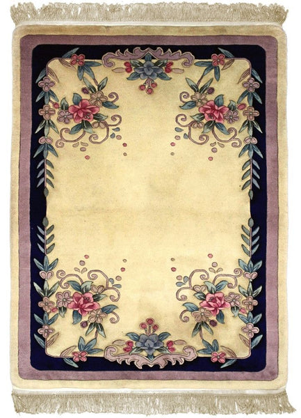 90 L, ARTDECO, Ivory / Navy (Rectangle) , Area Rugs, Discount Rugs, Cheap Rugs