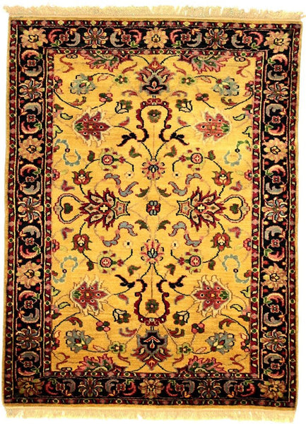 INDO - I001, AGRA, Gold / Black (Rectangle) , Area Rugs, Discount Rugs, Cheap Rugs
