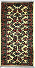 160S - N001, BIJAR, Ivory / Green (Runner) , Area Rugs, Discount Rugs, Cheap Rugs