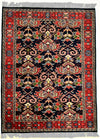 INDO, FARAHAN, Navy / Brick (Rectangle) , Area Rugs, Discount Rugs, Cheap Rugs