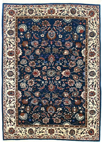 160L - F001, KASHAN, Blue / Ivory (Rectangle) , Area Rugs, Discount Rugs, Cheap Rugs