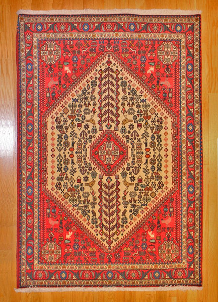 Abadeh Tribal TAN80002641 Iran, rugs, one of a kind