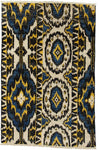 "Ikat, Multi Wool Area Rug - 4' 1"" x 6' 2"""