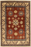 "Traditions, Brown Wool Area Rug - 4' 7"" x 6' 4"""