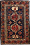 "Shirvan, Red Wool Area Rug - 3' 10"" x 6' 3"""