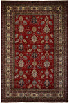 "South West, Red Wool Area Rug - 6' 9"" x 10' 0"""