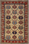 "South West, Red Wool Area Rug - 5' 7"" x 8' 6"""