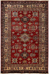 "South West, Red Wool Area Rug - 5' 1"" x 6' 8"""