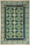 "Suzani, Blue Wool Area Rug - 6' 1"" x 9' 3"""